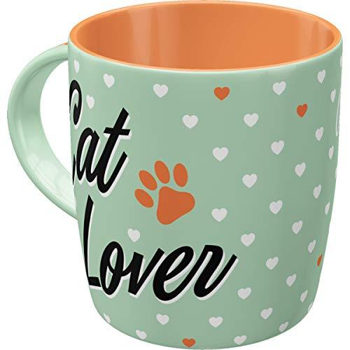Nostalgic-Art Retro Kaffee-Becher - Animal Club - Cat Lover, Lustige große Retro Tasse mit Spruch, Geschenk-Idee für Katzen-Liebhaber, 330 ml