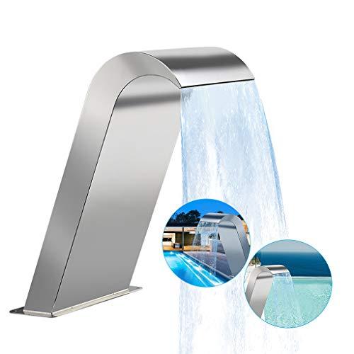 MaquiGra Wasserfall Pool Brunnen Edelstahl Silber Edelstahl Brunnen für BodenDekorative Brunnen für Ponds Pools Gardens (B: 650 * 300mm)