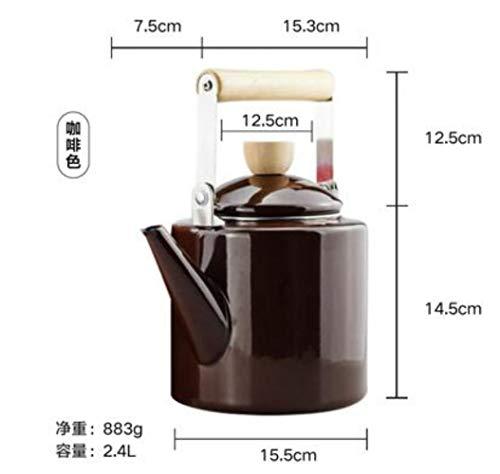 LLine Style Pot 2.0L emaille ketel koffiepot bloempot elektromagnetische oven algemene bloempot Inductiekookplaat, 2.0L