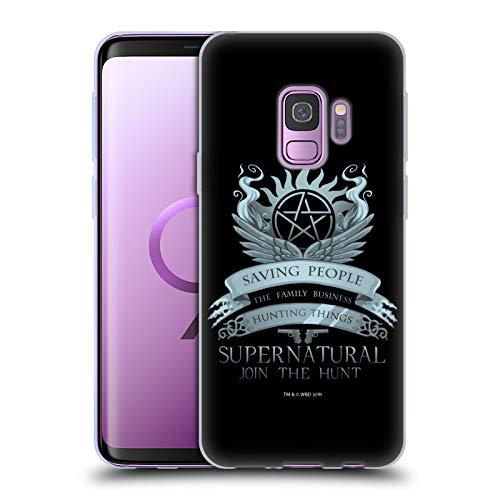 Head Case Designs Offizielle Supernatural Saving People Logo Vektoren Soft Gel Huelle kompatibel mit Samsung Galaxy S9