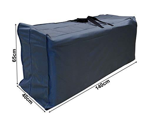 QUICK STAR Kissentasche Schutzhülle für 4 Rollliegen / 10 Sessel Auflagen 140x40x65cm