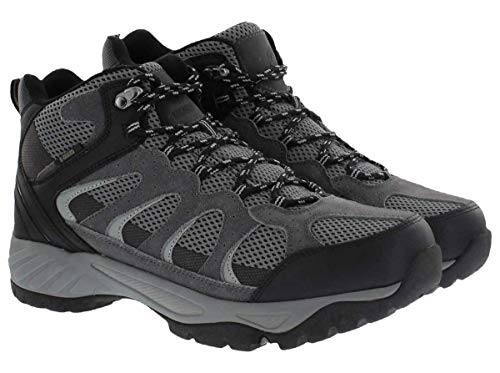 Khombu Tyler Men's Leather Hiking Outdoor Tactical Boots -Black/Grey - Size 8