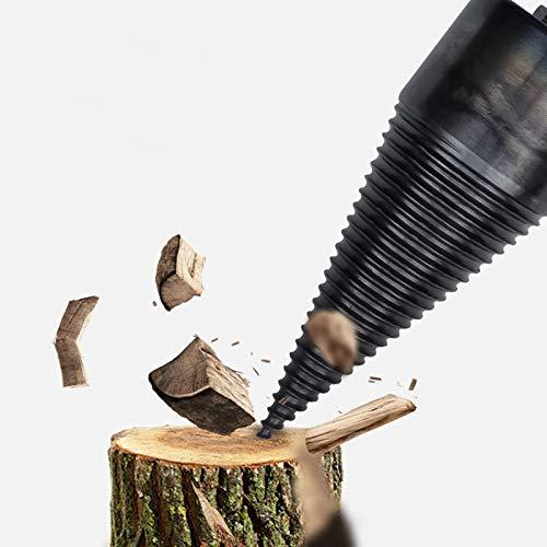 SOOTOP Punta da spaccare in legno, Spaccalegna per uso domestico, Punta da trapano a cono in legno rapido SDS Plus Codolo per trapano elettrico Trapano a percussione facilmente diviso