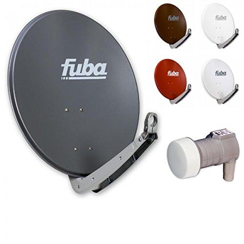 Fuba Digital Sat-Anlage 1 Teilnehmer | Fuba DAA 650 Kompakt Aluminium Sat-Antenne in Wunschfarbe + DEK 106 LNB