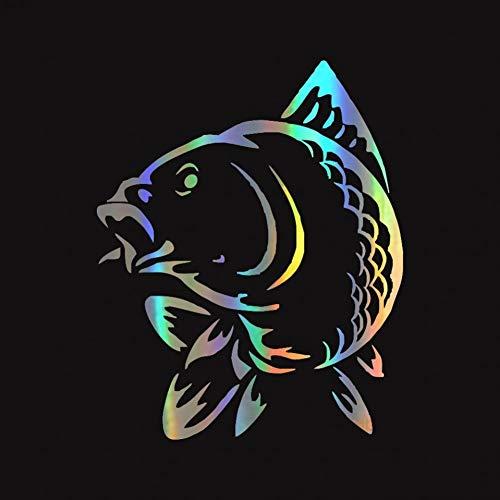 chenche Pegatinas de coche con forma de animales de mar y peces divertidos para coche, pegatinas de 12,3 x 15,2 cm