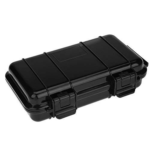 Dilwe Överlevnad förvaringsbox, solid utomhus stötsäker, brandsäker, vattentät överlevnadslåda behållare förvaring lufttätt fodral 190 x 120 x 52 mm