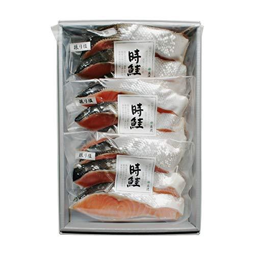 永徳 振り塩 時鮭 3切×3