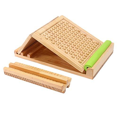 XIAOFEI Spannplatte Lajin Hocker, Geneigtes Pedal Wadenbahre Massivholz Schnürung Artefakt, Schlechte Körperhaltungen Anpassen, so richtig kann die Entwicklung Höhe fördern,A4