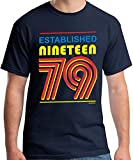 40th Birthday Gifts Cadeaux Anniversaire 40 Ans - Established 1979 - T-Shirt Homme