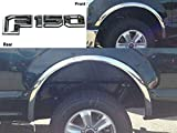 QAA fits 2018-2020 Ford F-150 4 Piece Molded Stainless Steel Wheel Well Fender Trim Molding, No Factory Flares WZ58308