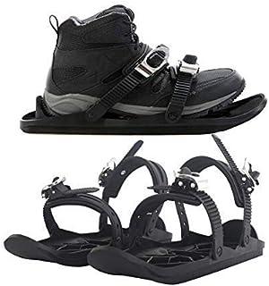 Lucakuins اسکی در فضای باز مینی سورتمه مینی اسنوبرد کفش سورتمه کفش ضد لغزش تابلوهای برف تخته اسکی چکمه اسکی اسکی در فضای باز تجهیزات ورزشی زمستانی (سیاه)