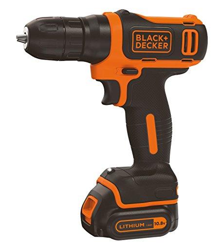 Black+Decker BDCD12-QW - Taladro atornillador a batería 10.8 V litio, 26Nm (incluye batería litio 10.8 V 1.5 Ah)