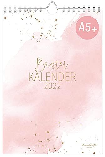 A5+ Bastelkalender 2022 [Blush] von Trendstuff by Häfft | Fotokalender, DIY-Kalender, Kreativ-Kalender, Geburtstags-Kalender zum Selbstgestalten | nachhaltig & klimaneutral