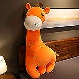 素敵な新しい巨大なかわいい鹿ぬいぐるみ柔らかいぬいぐるみ長い眠っているボーイフレンド枕子供赤ちゃんのなだめる人形女の子カワイイギフト オレンジ色の目を閉じる 100cm