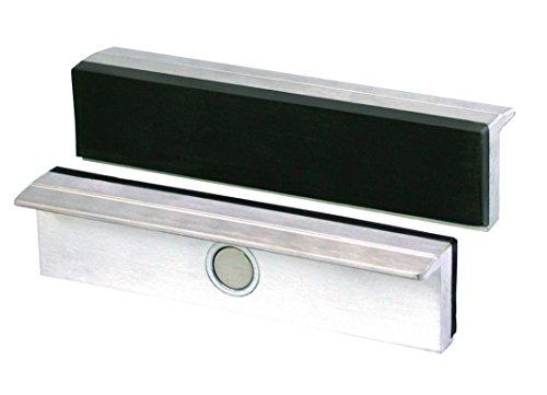 Heuer Schraubstockbacken (Schutzbacken rechtwinkelig; planparallel; integrierte Spezialmagnete; passend zu Schraubstock 160 mm; Material: Aluminium, Gummi) 112160