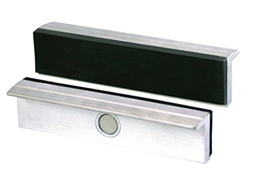 Heuer Schraubstockbacken (Schutzbacken rechtwinkelig; planparallel; integrierte Spezialmagnete; passend zu Schraubstock 140 mm; Material: Aluminium, Gummi) 112140
