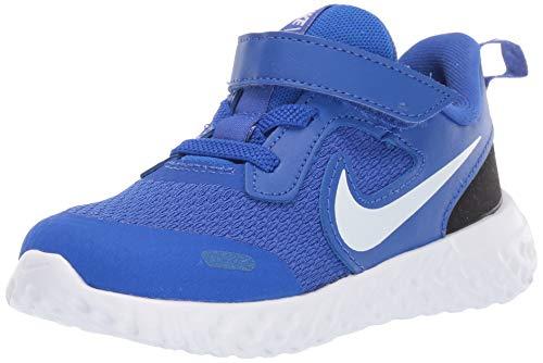 Nike Baby Revolution 5 Velcro Running Shoe, Racer Blue/Whiteblack, 5C Regular US Toddler