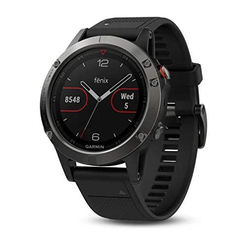 Garmin Fēnix 5 GPS-Multisport-Smartwatch, 24/7 Herzfrequenzmessung am Handgelenk, zahlreiche Sport- und Navigationsfunktionen, 1,2 Zoll (3 cm) Farbdisplay, 010-01688-01