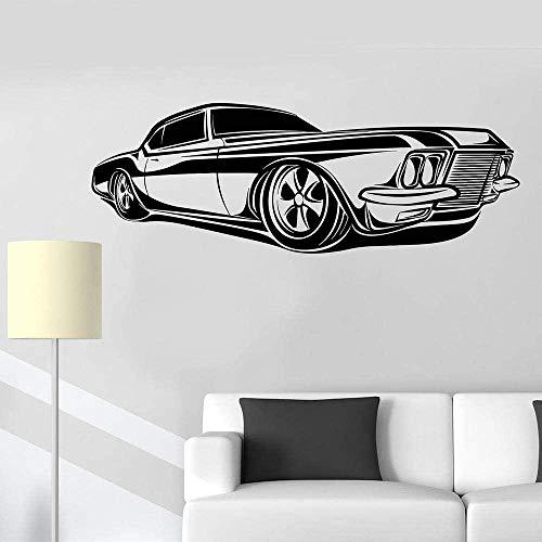 Pegatinas de vinilo para pared Decoración de pared Pegatinas de bricolaje Retro Car Impala Supernatural Car Garage Wallpaper 45Cm × 65Cm