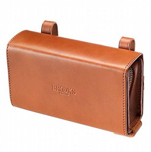 BROOKS(ブルックス) ユニークなスライド式レザー製サドルバッグ BROOKS D-SHAPED HONEY 【日本正規品/2年間保証】