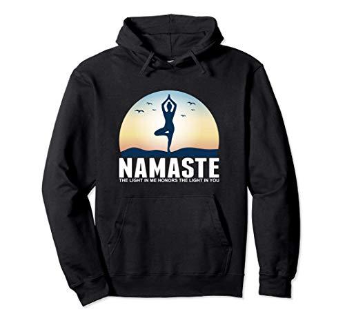 Yoga Namaste La luz En Mí Meditación Budismo Regalo Sudadera con Capucha