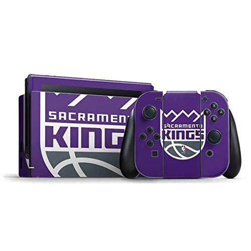 Skinit Decal Gaming Skin Compatible with Nintendo Switch Bundle - Officially Licensed NBA Sacramento Kings Large Logo Design
