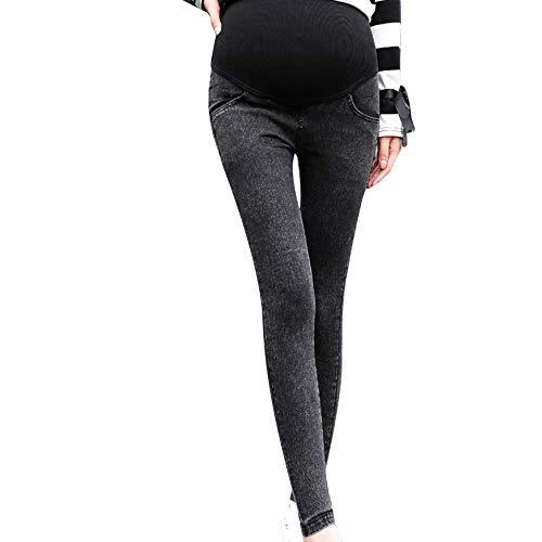 Jeans Premaman Donna,TTMall Jeans Premaman Pantaloni Strappati Elasticizzati Jeans Primavera Estate Pantaloni Premaman Pantaloni da Leggings con maternità Waistband