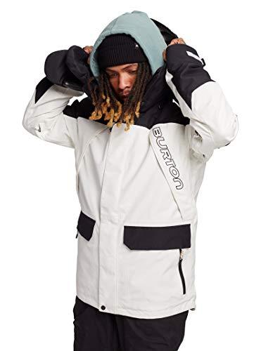 Burton Mens Gore-Tex Breach Jacket, Stout White/True Black, Medium