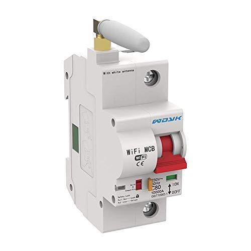 ZUHANGMENG Disyuntor WiFi, Interruptor Inteligente de 4 Polos Interruptor IOT de Control Remoto inalámbrico (APLICACIÓN: eWeLink), Programa de Temporizador, Protección contra Cortocircuitos