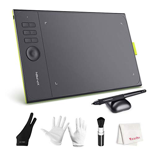 Graphics Tablet, XP-PEN Star06C 10x6 inch Active Surface Digital Drawing Tablet with 8192 Press Levels Battery Free Stylus,Customizable Hot Keys and Dial for Windows Mac OS Artist, Designer, Amateur
