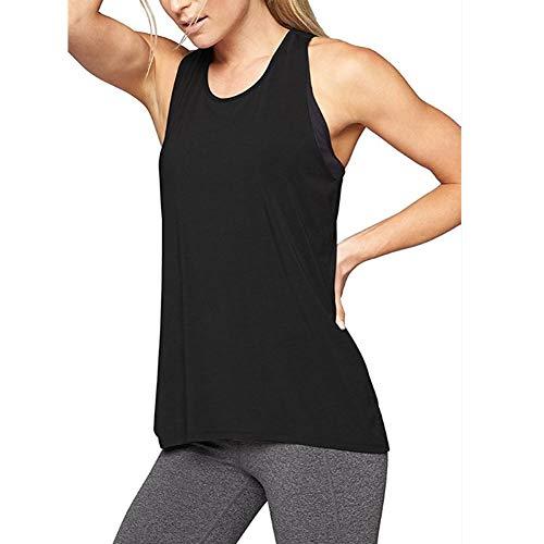 Camiseta Tirantes Mujer Deporte sin Mangas Tank Tops Verano Sexy Gimnasio Yoga de Fitness Blusas Suelta T Shirt