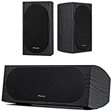 Pioneer SP-BS22-LR Andrew Jones Designed Bookshelf Loudspeakers with Pioneer SP-C22 Andrew Jones Designed Center Channel Speaker