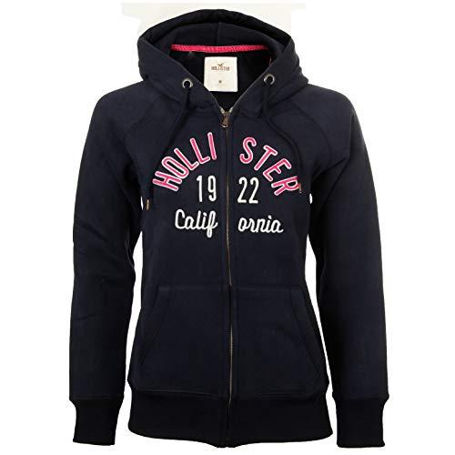 Hollister - Sudadera con capucha y cremallera para mujer