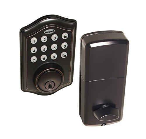 Honeywell Safes & Door Locks - 8712409 Electronic Entry Deadbolt with Keypad, Oil Rubbed Bronze