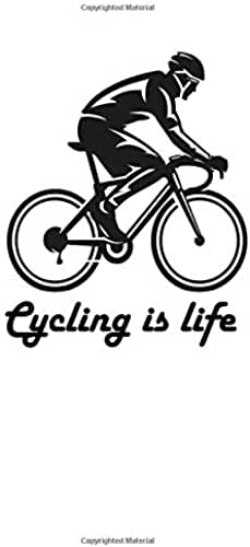 CYCLING IS LIFE, CYCLING JOURNAL: World Bicycle Day Gift, bike journal, biking journal notebook, bike lovers gift, cycling tracker notebook