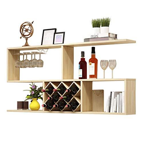 GYY Estante de Montaje en Pared Estante de Vino Cocina Sala de Estar Decoraciones de Pared Estante de celosía en Forma de S (Color : C)