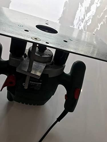 Tuneon Oberfräsenlift mit Platte aus Stahl für Bosch POF 1400 ACE 1200 AE Oberfräse
