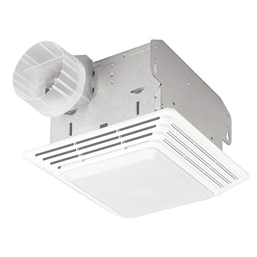 Broan-NuTone 678 Exhaust Ventilation Fan and Light Combination for Bathroom and Home, 50 CFM, 2.5 Sones, White