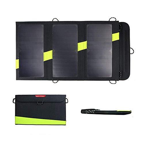 FOOX Solar-Ladegerät, 20w Sunpower Solar Panel Ladegerät Faltbare bewegliche Sonnenkollektor-Ladegerät mit Laderegler und Dual USB, for Laptop, Tablet