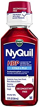Vicks Cough, Cold & Flu Relief Decongestant Free NyQuil, 12 FL OZ
