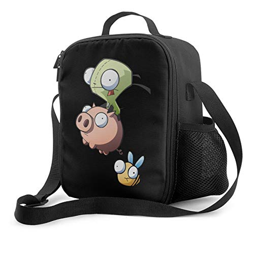Dxddsdks Classic-Invader-Zim-Gir Insulated Chic Reusable Lunch Box with Shoulder Strap Lightweight Waterproof Picnic Bag