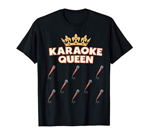 Karaoke Queen - Micrófono Cantante Divertido Karaoke Camiseta