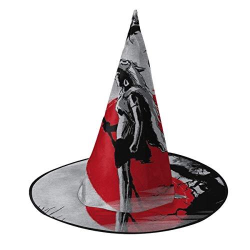 Sombrero de Halloween Princesa Mononoke Protector del Bosque Sombrero de Bruja Halloween Disfraz Unisex para Vacaciones Halloween Navidad Carnavales Fiesta