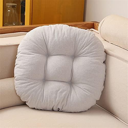 Morbuy Cuscini per Sedia Forma Rotonda, 100% Cotone Spessa Comoda Seduta Traspirante Cuscino per Pavimento per Interno ed Esterno mobili e Arredamento da Giardino (45 * 45,Bianca)
