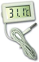 Generic Digital Thermometer with LCD for Fridges Freezers, Black/White