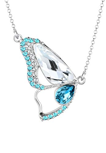 Elli Halskette Schmetterling Swarovski® Kristalle Sterling Silber