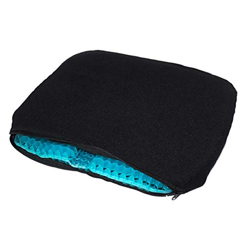 Ouumeis Gel Flex Seat Cushion Breathable Absorbs Pressure Points Support Cushion Good Sitting Posture,Orthopedic Memory Foam Seat Cushion - Helps with Sciatica Back Pain,A+cloth cover