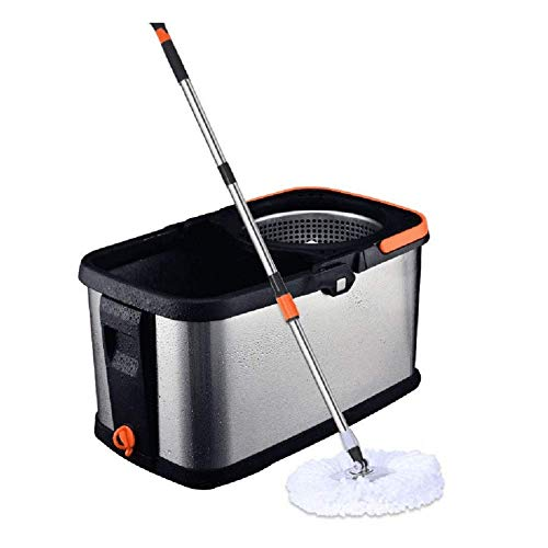 CHENYI Mop Rotating Home Dual Drive Gratis Automatisch drogen Afneembare Mop Mand (dubbele kop)