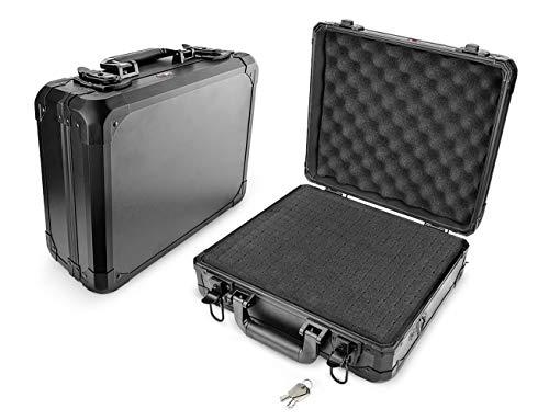XPIX Versabox Capa rígida personalizada para transporte com inserção de espuma de corte personalizado para câmeras DSLR, filmadoras, gravadores, impressoras e outros equipamentos fotográficos - Pequena