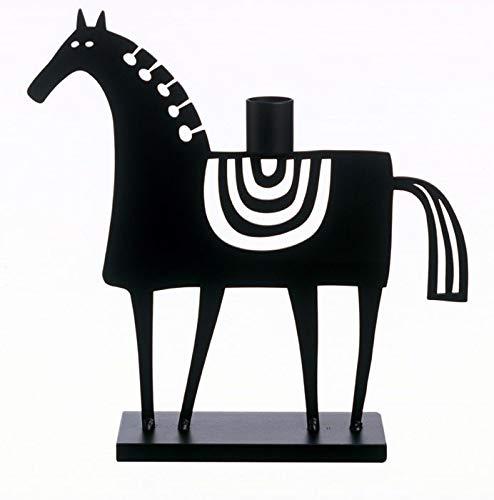 Bengt & Lotta Swedish Horse schwarz Kerzenständer Höhe 23 cm